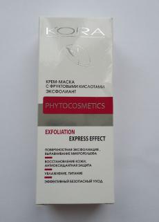 Крем-маска с фруктовыми кислотами эксфолиант Phytocosmetics от Кора