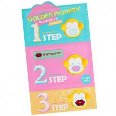 3-х ступенчатый набор средств для ухода за губами Golden Monkey Glamour Lip от Holika Holika