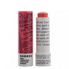 Бальзам-стик для губ Colour Mandarin Lip Butter Stick SPF 15 (оттенок Peach) от Korres