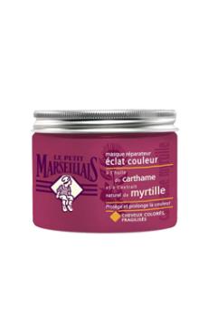 """Маска для окрашенных/поврежденных волос """"Голубика и масло Сафлора"""" от Le Petit Marseillais"""