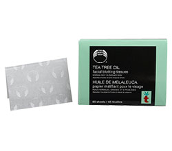 Матирующие салфетки Papier Matifiant Visage Tea tree oil от THE BODY SHOP