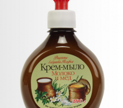 """Крем мыло """"Молоко и мёд"""" от Рецепты бабушки Агафьи"""