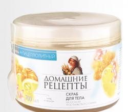 """Скраб антицеллюлитный """"Мед и лимон"""" от Домашние Рецепты"""