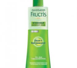 """Спрей для волос Fructis """"Двойной уход. Объем и восстановление"""" от Garnier"""
