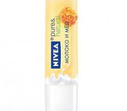 Бальзам для губ Pure&Natural Молоко и мед от Nivea