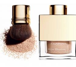 Минеральная рассыпчатая пудра, придающая сияние коже Skin Illusion (оттенок № 110 Honey) от Clarins