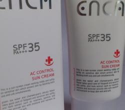Крем для лица Сан блок Enca AC control sun cream SPF 35+++ от Rojukiss