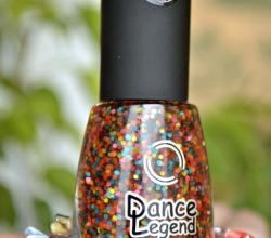 Верхнее покрытие с разноцветным глиттером Flossy top (оттенок № 158) от Dance Legend