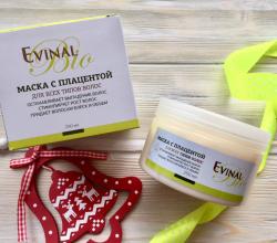 Питательная маска с экстрактом плаценты для всех типов волос от Evinal