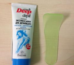 Нежный экспресс-крем для мягкого удаление волос (для чувствительной кожи) Deep Depil от Floresan