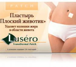 Женский лейкопластырь для сжигания жира LUSERO от Tedele-Biofarm