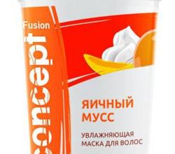 """Маска для волос увлажняющая """"Яичный мусс"""" от Concept"""