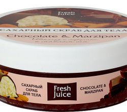Сахарные скрабы для тела Chocolate and Marzipan и Carambola and Noni от Fresh Juice