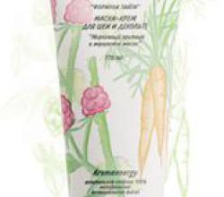 """Маска-крем для шеи и декольте """"Морковный протеин и малиновое масло"""" от Green Mama"""