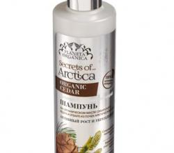 Стимулирующий шампунь для волос на органическом масле сибирского кедра и отваре почек арктической ивы (серия Secrets of Arctica) от Planeta Organica