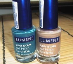 Лаки для ногтей With Arctic Minerals (оттенки № 37 и № 5) от Lumene