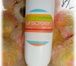 Натуральный солнцезащитный крем Natural Sunscreen with MSM, Orange, SPF 30 от Live Live & Organic