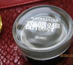 """Стойкие гелевые тени-тату """"COLOR-TATTOO 24H"""" (Оттенок № 55 Immortal Charcoal) от Maybelline"""
