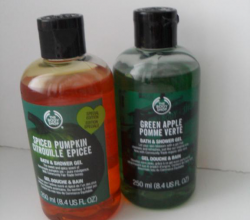 Гели для душа «Зеленое Яблоко» и «Пряная Тыква» от The Body Shop