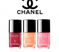 Лаки для ногтей из весенней коллекции 2012 Harmonie De Printemps (оттенки № 533 April,  539 June, 535 May) от Chanel