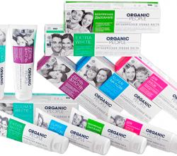 Органические зубные пасты ZOOM3 WHITE и Для чувствительных зубов от Organic People