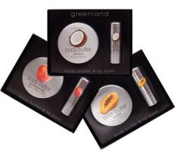 """Подарочный набор крем для рук и бальзам для губ """"Кокос"""" от Greenland"""