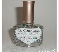 Праздничный топ для ногтей Art Top Coat (оттенок № 421/8 Top Fireworks) от El Corazon