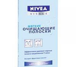 Мягкие очищающие полоски от Nivea