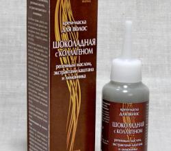 Шоколадная крем-маска для волос с коллагеном от ЛекоМакс ФАРМА