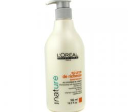 """Бессульфатный питательный шампунь для сухих волос """"Источник Изобилия"""" от L'Oreal"""