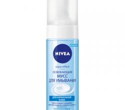 Освежающий мусс для умывания AQUA EFFECT для нормальной кожи от Nivea