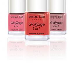 Лак для ногтей Glassage 2 en 1 (оттенки № 101, 109) от Vivienne Sabo