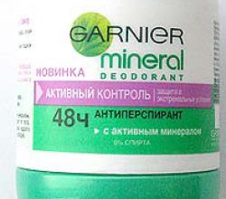 """Дезодорант-антиперспирант Mineral """"Активный Контроль 48ч"""" от Garnier"""