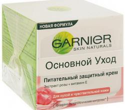 """Питательный защитный крем для лица """"Основной уход"""" от Garnier"""
