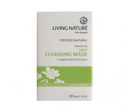 Глубоко очищающая маска для лица с галлуазитовой глиной и нектаром мануки от Living nature