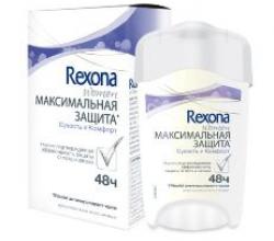 """Антиперспирант-крем """"Максимальная защита на 48 часов"""" от Rexona"""