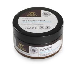 Крем-скраб для лица для сухой и чувствительной кожи с органическим маслом кенийского ши и рисовой пудрой от Planeta Organica