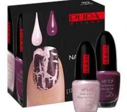 Лак-кракелюр для ногтей NAIL ART KIT Pink & purple (№993) от PUPA