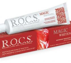 Зубная паста Magic Whiteningот R.O.C.S