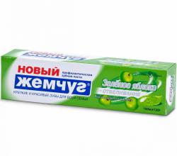 """Зубная паста """"Новый Жемчуг Зеленое яблоко + отбеливание"""" от Невская косметика"""