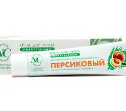 """Крем для лица питательный """"Персиковый"""" от Невской косметики"""