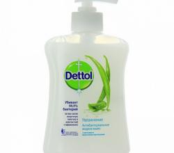 """Жидкое мыло """"Увлажнение"""" с алоэ вера и молочными протеинами от Dettol"""