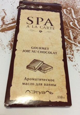 """Ароматическое масло для ванны """"Gourmet Joie au Chocolat"""" из серии Spa a la Carte от Л'Этуаль"""