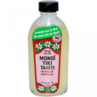 Кокосовое масло для тела с ароматом Ванили от Monoi Tiare Tahiti
