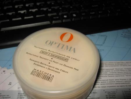 Восстанавливающая маска для волос Mascera ristrutturante от Optima