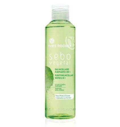 Очищающая мицеллярная вода для лица 2 в 1 Sebo Vegetal от Yves Rocher
