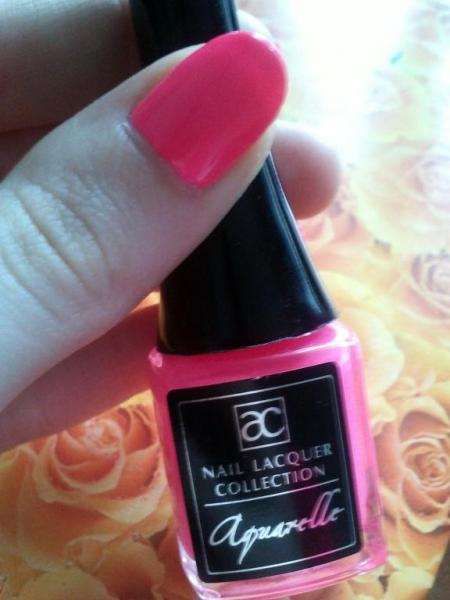 Лак для ногтей AQUARELLE (оттенок № 53 Barbie Pink) от Aroma Charm