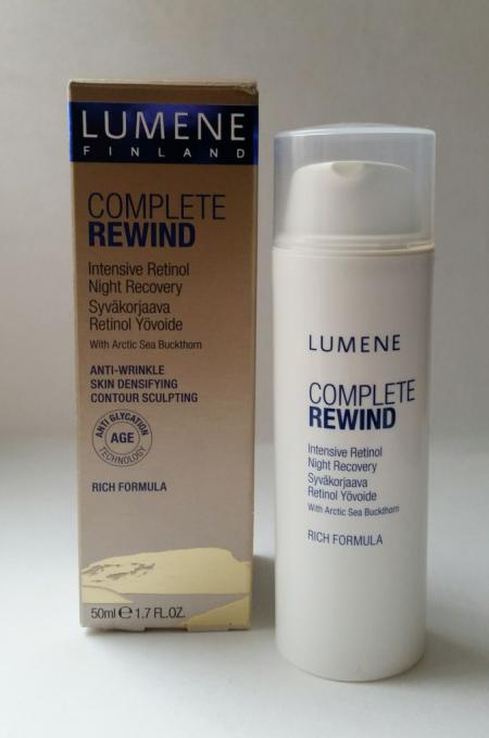 """Ночной уход с ретинолом """"Комплексное восстановление"""" Complete Rewind от Lumene"""