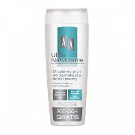 Мицеллярная жидкость для снятия макияжа с глаз и лица Ultra Nawilzanie от AA oceanic