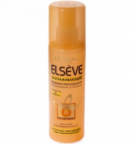Спрей-кондиционер для волос Elseve разглаживание и легкость от L'Oreal